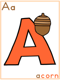 Autumn Alphabet Printable Activities