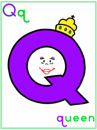 Alphabet Letter Q Queen
