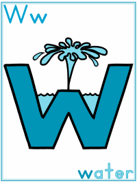 Alphabet Letter W Water Preschool Lesson Plan Printable Activities and Worksheets