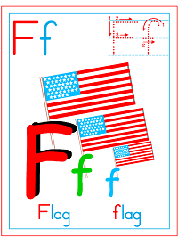 Alphabet Letter F Flag Preschool Lesson Plan Printable Activities and Worksheets