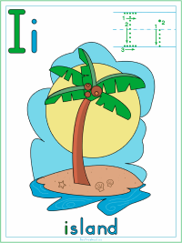 Alphabet Letter I Island