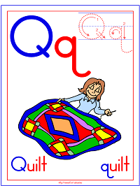 Alphabet Letter Q Quilt Preschool Lesson Plan Printable Activities and Worksheets
