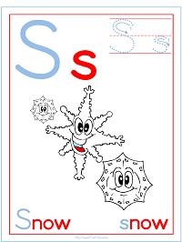 Alphabet Letter S Snow