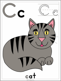 Letter C Alphabet Printable Activities Coloring Pages, Posters, Handwriting Worksheets