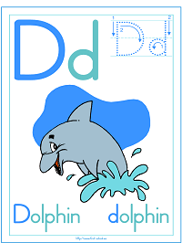 Alphabet Letter D Dolphin Preschool Lesson Plan Printable Activities and Worksheets