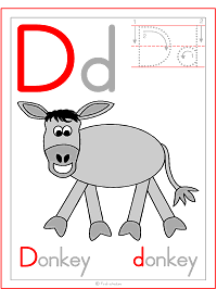 Letter D Alphabet Printable Activities