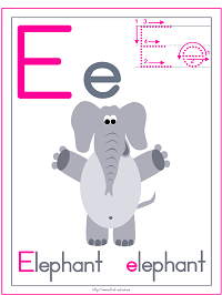 Letter E Alphabet Printable Activities