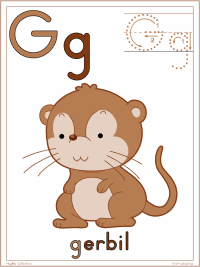 Alphabet Letter G Gerbil Preschool Lesson Plan Printable Activities and Worksheets