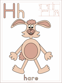Alphabet Letter H Hare Preschool Lesson Plan Printable Activities and Worksheets