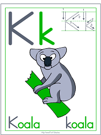 Alphabet Letter K Koala