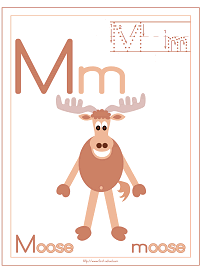 Alphabet Letter M Moose Preschool Lesson Plan Printable Activities and Worksheets