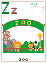 Alphabet Letter Z Zoo