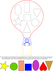 Hot Air Balloon Colors and Shapes Lesson Plan Preschool Printable Activities