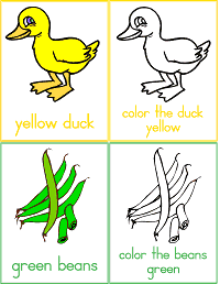 Colors Printable Flash Cards for Preschool, Kindergarten and Early Elementary