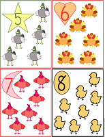 printable flash cards 5 to 8 farm animals