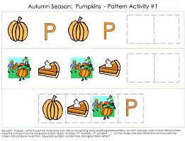 Patterns Activity Worksheets for Preschool Math skills