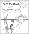 Billy and Maria Visit the National Weather Service Coloring Book