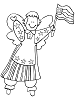 angel usa coloring page