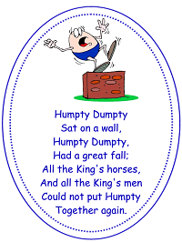 Humpty Dumpty Nursery Rhyme | Music Preschool Lesson Plan Printable Activities