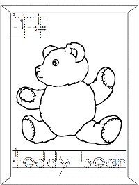 letter t teddy bear printable activities