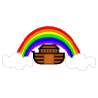 Rainbow and Noah's Ark Craft Genesis 9:8-17 Preschool Lesson Plan Printable Activities