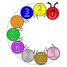 letter c centipede colors numbers and circles craft