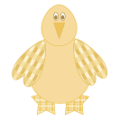 easy shapes chick printable craft