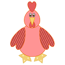 easy shapes little red hen craft
