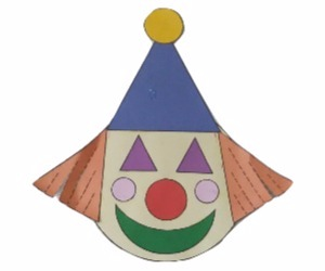 Clown Craft | Shapes | Colors | Emotions Preschool Lesson Plan Printable Activities