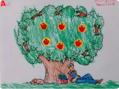 Johnny Appleseed - Apple Tree or Picnic Theme Coloring Page Crafty Project