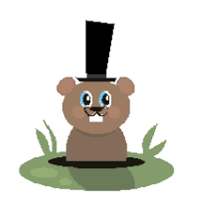 Groundhog or woodchuck printable craft for preschool to first grade