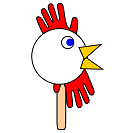 printable chicken or rooster craft with handprints