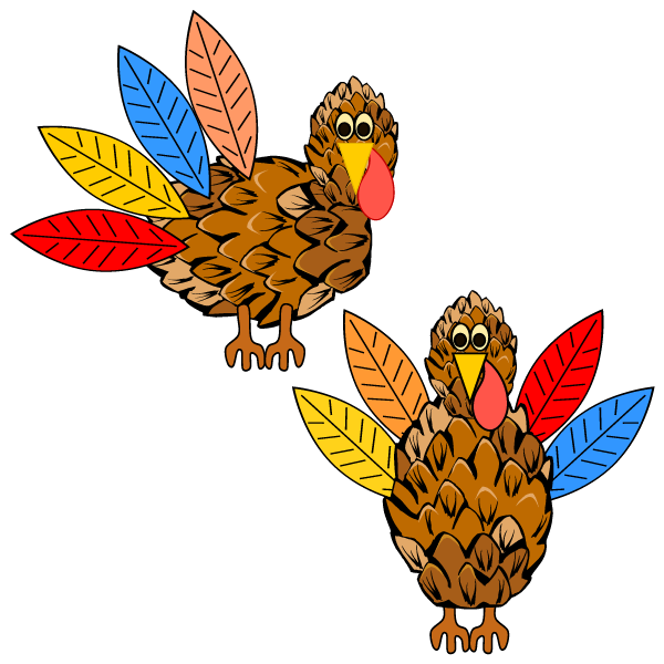 Turkey Craft | Pinecone and Feathers Theme | Thanksgiving Preschool Printable Activity
