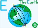 Letter E planet Earth online jigsaw puzzle