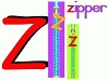 Online Puzzle Letter Z is for Zipper