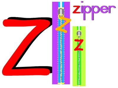 Alphabet Letter Z Zipper Preschool Lesson Plan Printable Activities, Worksheets and Crafts