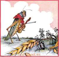 aesop's fable the ants and the grasshopper