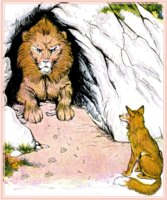Aesop's Fable: The Fox and the Sick Lion