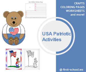 Activities and crafts for Memorial Day, Flag Day and 4th of July